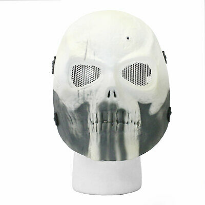35b3be5cec BBTac Airsoft Face Mask Punisher Skull Ghost Recon White Halloween Costume