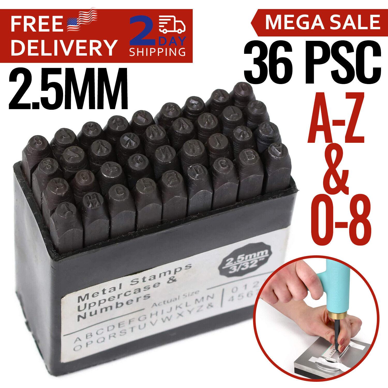 Alphabet Letter Stamps Number Punch Stamp Set Steel Metal Leather Wood A-Z 0-9