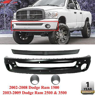 Front Bumper Black Filler Fog Lights For 02-08 DODGE RAM 1500 / 03-09 2500 3500