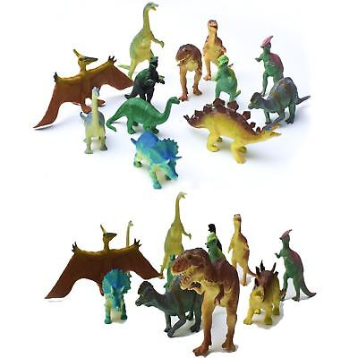 Jumbo Realistic Dinosaur Toys Assorted Pack of 12 Lot Jurassic Park 6'' Figures