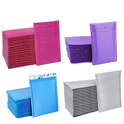 ANY SIZE POLY BUBBLE MAILERS SHIPPING MAILING PADDED BAGS ENVELOPES COLOR (Colored Bubbles)