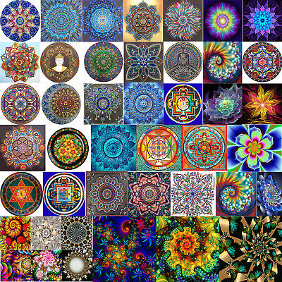 Diy Abstract Painting (5D DIY Full Drill Diamond Mandala Abstract Painting Cross Stitch Kits Decor)