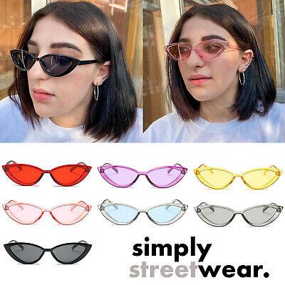 Clear Vintage Cat Eye Sunglasses Women Luxury Brand Designer Sun Glasses Retro