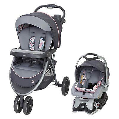 Baby Trend Sky View Plus Folding Infant Carseat Stroller Travel System, Bluebell