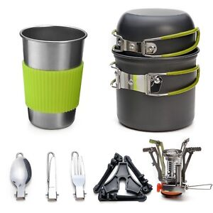 Mini Camp Stove And Cooking Set For Wild Camping Bushcraft Backpacking