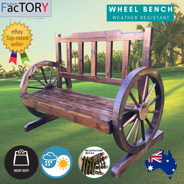 Garden Furniture - KASA Garden Bench Seat Outdoor Furniture Wooden Wagon Chair Backyard Lounge