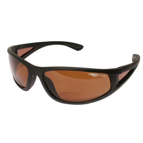 Airflo Bi-Focal (+2.50) Brown Lens Polarised Fishing Sunglasses with Hard Case