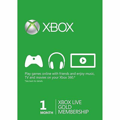 1 Month Xbox Live Gold  Membership Digital Code (E-mail Delivery) for sale  Poland