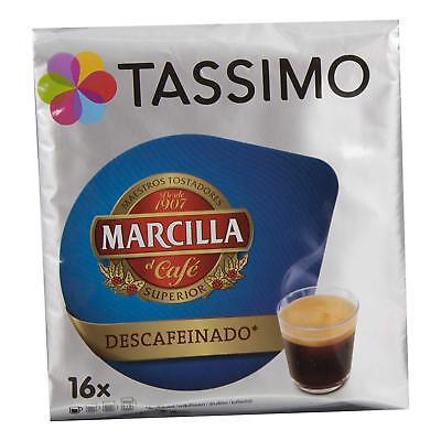 Capsulas Tassimo Marcilla Cafe Descafeinado 80 Bebidas