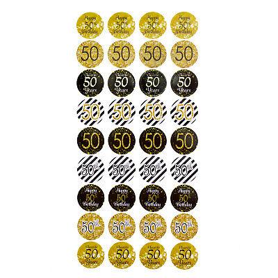 50. Geburtstag Jubiläum goldene Hochzeit Sticker Aufkleber 108 Stk Dekoration