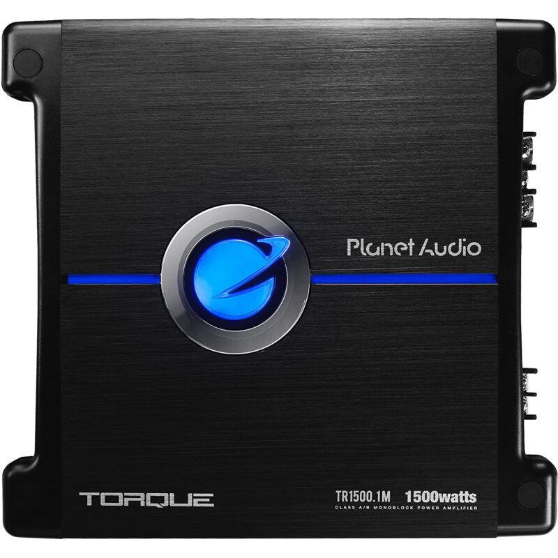 Planet Audio TR1500.1M Monoblock Car Audio Sub Amplifier, 1500 Watts, 2/4 Ohm