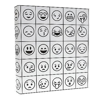 Aurora Illustrator Adult Coloring 3-ring Binder 1-inch 11 X 8.5 Emoji Desig