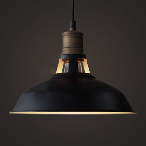 CLAXY Ecopower Industrial Barn Mini Metal Pendant Light 1 Li