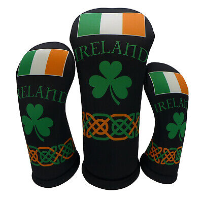 Golf Head Covers in Ireland Flag Shamrock Irish Theme (Sold Separately) BeeJo's](Irish Theme)