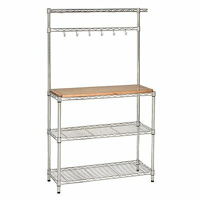 STEEL FRAME KITCHEN BAKER'S RACK WORK STATION ...