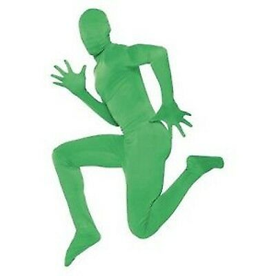 NWT ADULT GREEN STRETCH SKIN SUIT COSTUME - ALIEN OR NINJA TURTLE - SKINZ OUTFIT - Green Ninja Suit