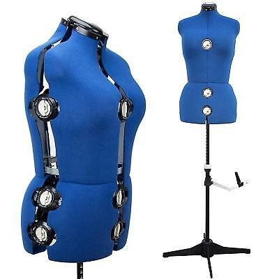 Adjustable Mannequin Dress Form Plus Size Torso Female Tailor Sewing Seamstress