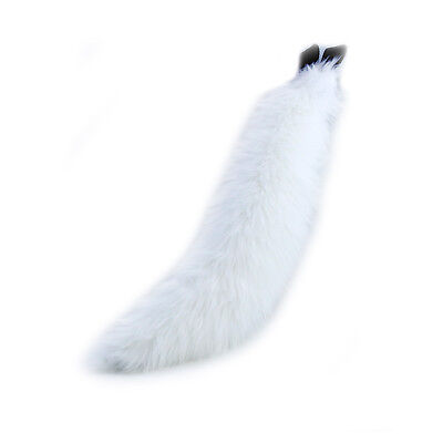 PAWSTAR Furry WOLF TAIL - White cosplay Adult Halloween COSTUME FOX [WH]3601