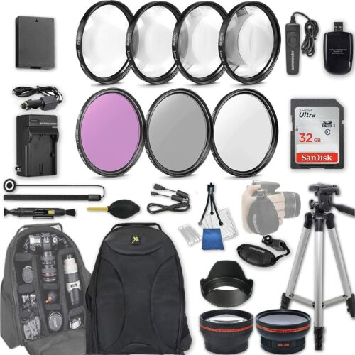 58mm 28 Pc Accessory Kit for Canon EOS Rebel T7, T6, T5, T3, 1300D, 1200D DSLR