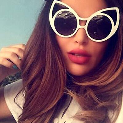 Oversized Super Cat Eye Fashion Sunglasses Women Large Retro Frames Multi (Cat Eye Color)