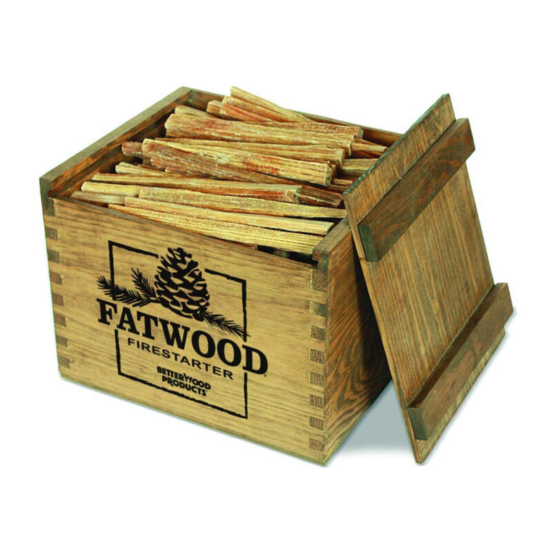 BetterWood Products Fatwood Firestarter Natural Waterproof Wood Crate, 12 Pounds