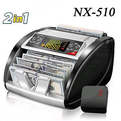 Nx-510 Business Grade Money Counter Machine Counterfeit Bill Detector 2 In 1
