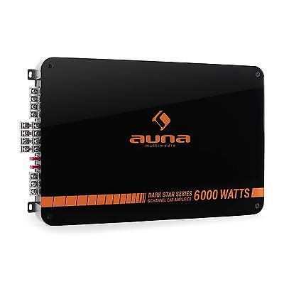 AUNA CAR HIFI AMPLIFICATORE AUTO 6 CANALI PONTICELLABILE 6/5/4/3 CANALI 6000W