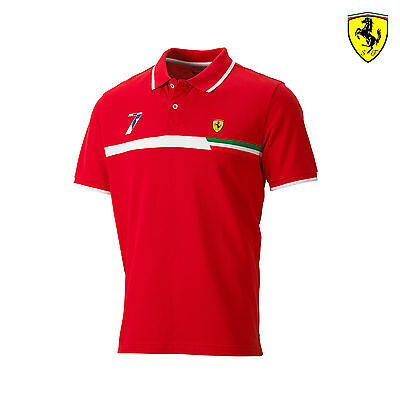 Herren Poloshirt Polo Kimi Raikkonen Ferrari F1 Team Formel 1 Rot Grösse XL