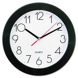 UNIVERSAL Round Wall Clock 9 3/4 Black 10421