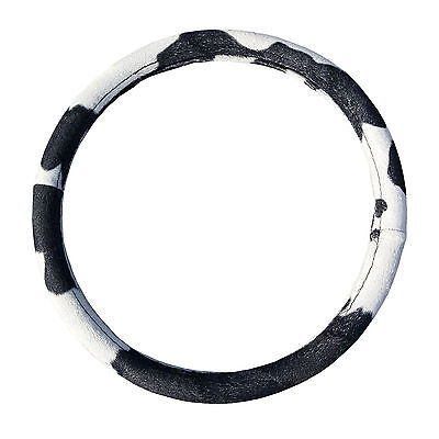 New Cow Print Design Steering Wheel Cover Universal Fit 14.4''-15.5''