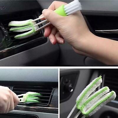 Mini In Car Vent Brush Double Sided Dust Cleaner Window Air Con Dashboard