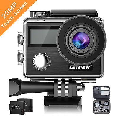 Campark X20 Pro Action Sport Kamera Touchscreen WiFi HD 4K 20MP Dual Wasserdicht
