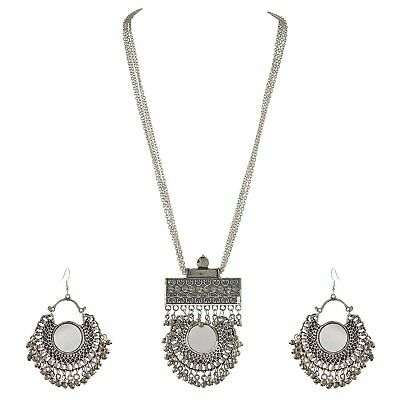 Indian Women Fashion Silver Oxidized Jewelry 10 Necklace Set Gypsy Whole Sale