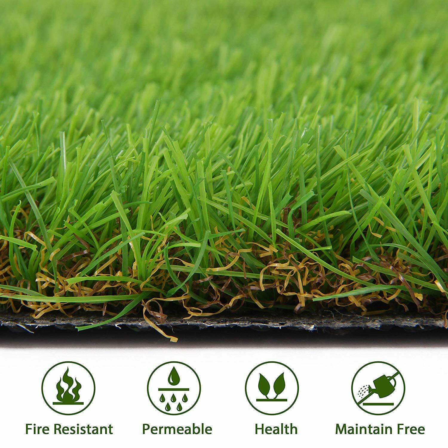 Details About Artificial Grass Turf Lawn Fake Grass Mat Synthetic Turf Rug Carpet Garden
