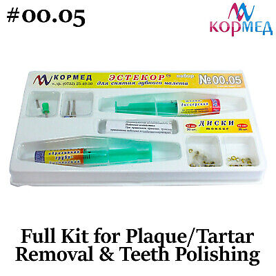 Plaque Tartar Removal Teeth Polishing Tooth Cleaner Paste Dental Estekor Kit