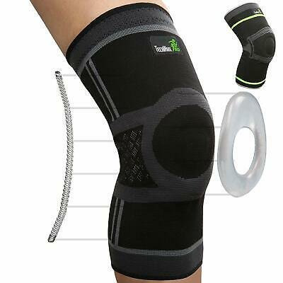 TechWare Pro Knee Compression Sleeve - Best Knee Brace With Side Stabilizers
