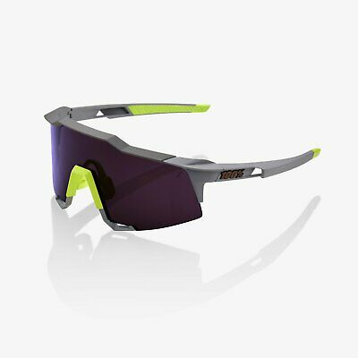 100% Percent Cycling Sunglasses Speedcraft Soft Tact Midnight Mauve Purple (Speedcraft Sunglasses)