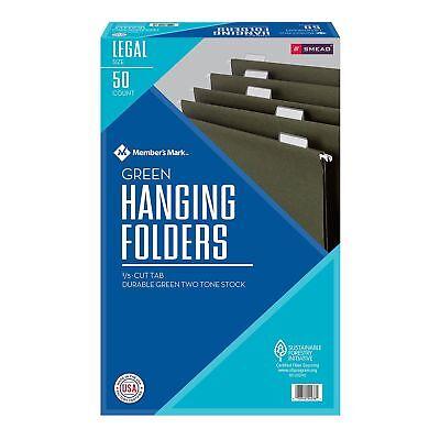 Smead Hanging File Folders 15 Cut Legal Size 50box Green Office Tab W Insert