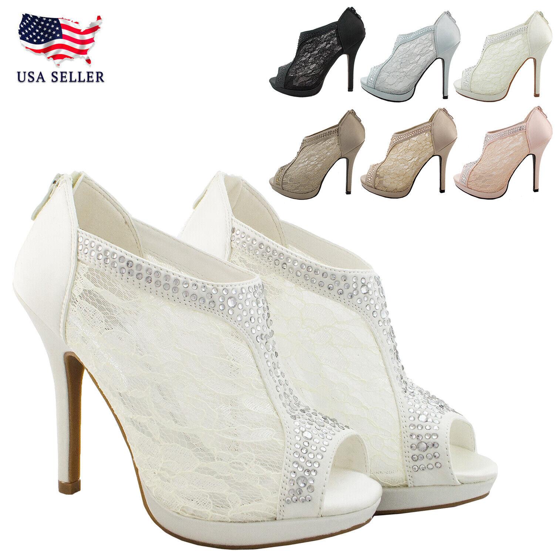 Lace Wedding Bridal Shoes UK