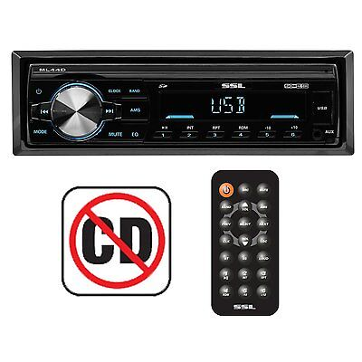 Soundstorm Single DIN Mech-Less Car Stereo Radio USB/Aux Stereo Receiver | ML44D