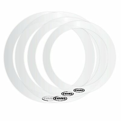 Evans Erfusion E Rings Clear Drum Head Sound Control Ring
