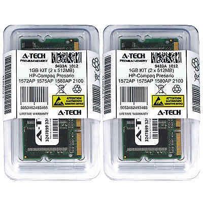 1GB KIT 2 x 512MB HP Compaq Presario 1572AP 1575AP 1580AP 2100 Ram (512 Mb Memory Kit)