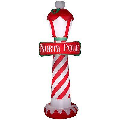 Christmas Outside Decor Airblown Inflatable North Pole 7-Feet Tall Backyard Yard