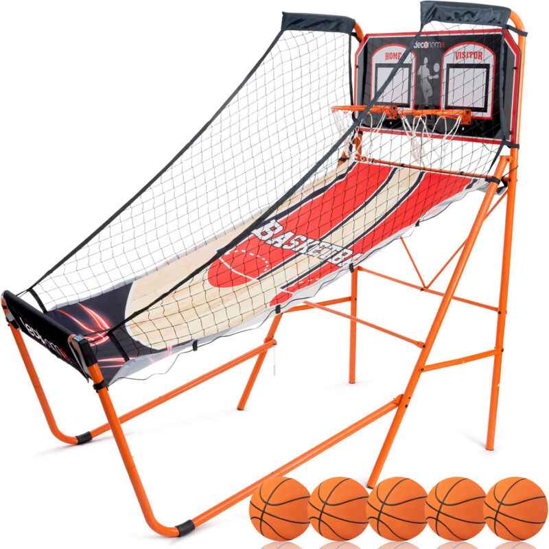 Deco Home Indoor Basketball Arcade Game, 1-4 Player, LED Scoreboard w/ 8 Games