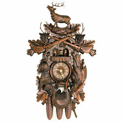 Cuckoo Clock 8-day-movement Carved-Style 23.6 by Hekas