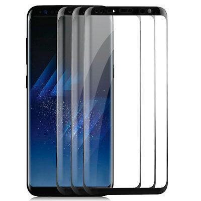 3x Curved Displayschutzglas für Samsung Galaxy S8 Plus- 9H-Panzer Glasfolie 3D S