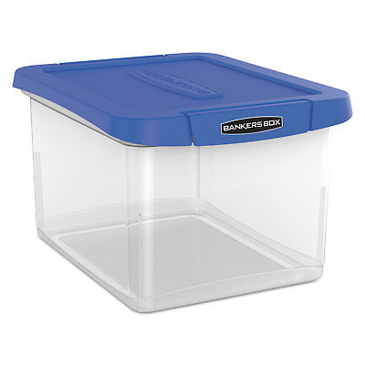 Bankers Box Heavy Duty Plastic File Storage 14 14 X 8 35x 11 Clear 0086301
