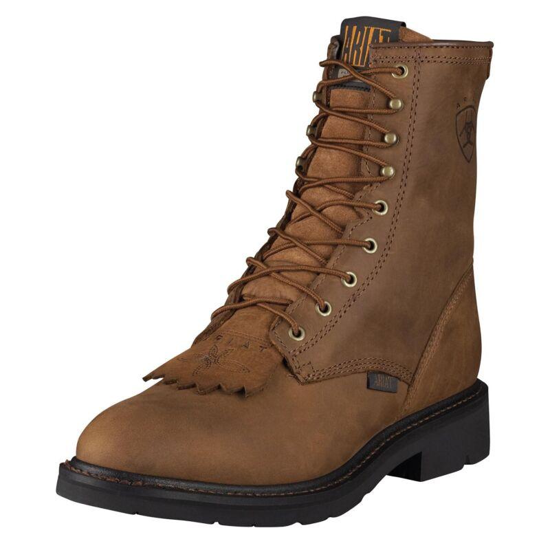 "Ariat, Mens, Cascade, 8"", Cowboy, Western, Work, Boot, Distressed, Brown, 10002418, 37127"