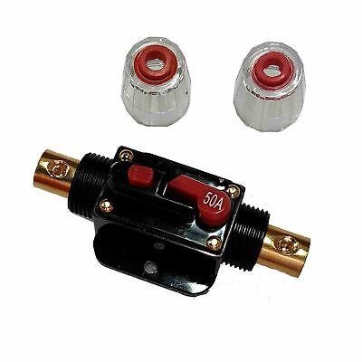 50a 12v-24v 50a Amp Car Audio Solar Energy Inline Circuit Breaker Fuse Holder