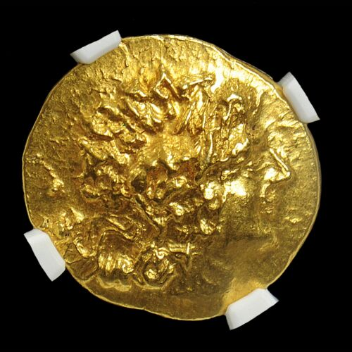 NGC CERTIFIED GOLD STATER OF ALEXANDER III, MITHRADATES VI